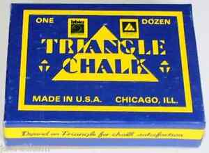 Triangle-Chalk-One-Dozen-12-pieces-Pool-Cue-Billiards-5-Color-Choices