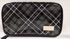 New! OPI GWEN STEFANI Black Plaid Cosmetic Nail Polish Zippered Bag Case Travel