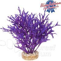 Purple Water Fern Aquarium Free-standing Weighted Plastic Colorburst Plant 7