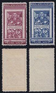 """Vaticano 1951 P. A. """"Graziano"""" n. 20-21 serie nuova MLH* linguellata"""