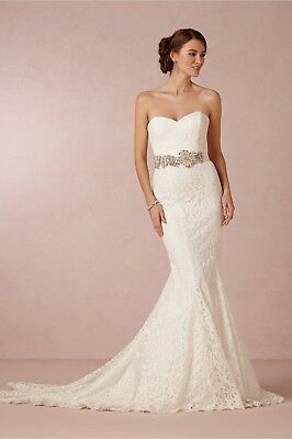 2016 Romantic White Two Pieces A Line Lace Wedding Dresses With