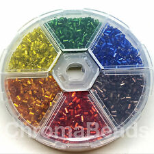Mini Bead Wheel - Silver-Lined HEX beads (size 11/0, 2mm) - starter pack / gift