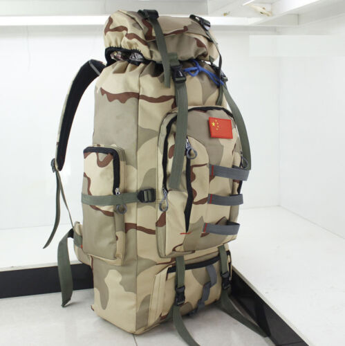 80L Military Tactical Anti-water Molle Backpack Camp Hiking Climbing Sports Bags