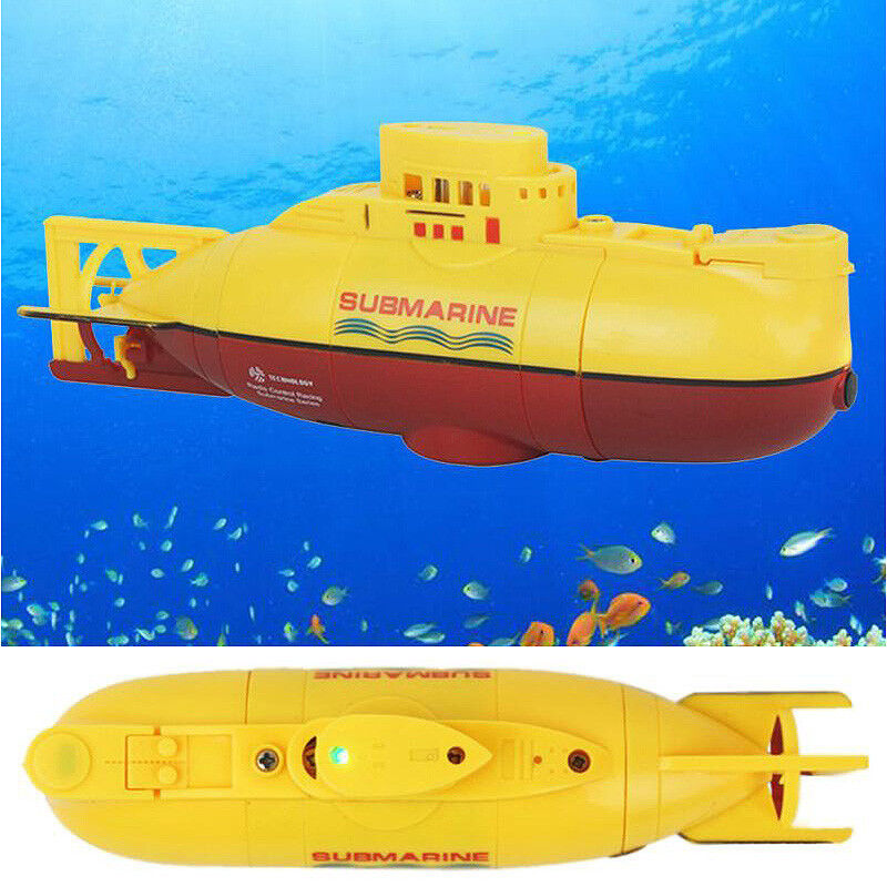 Mini Submarine RC High Powered Powered Powered 3.7V Toy with Remote Controller 14cm Model a07c21