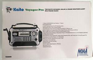 Kaito KA600 Voyager Pro Solar & Crank NOAA Weather Alert Multiband Radio