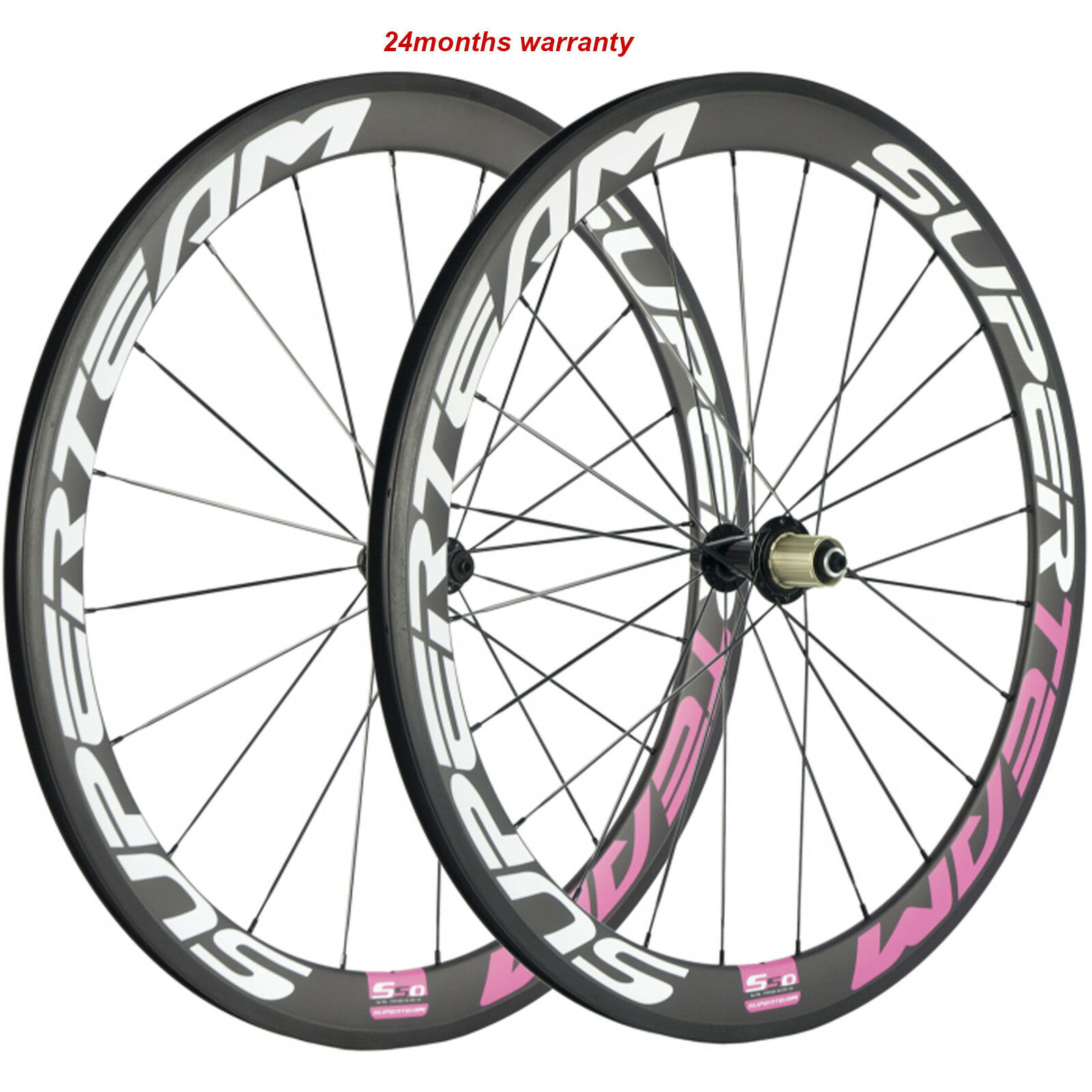 Superteam Carbon Fiber  Road BIke Wheels 700C Clincher Wheelset 50mm matte Wheels  shop clearance
