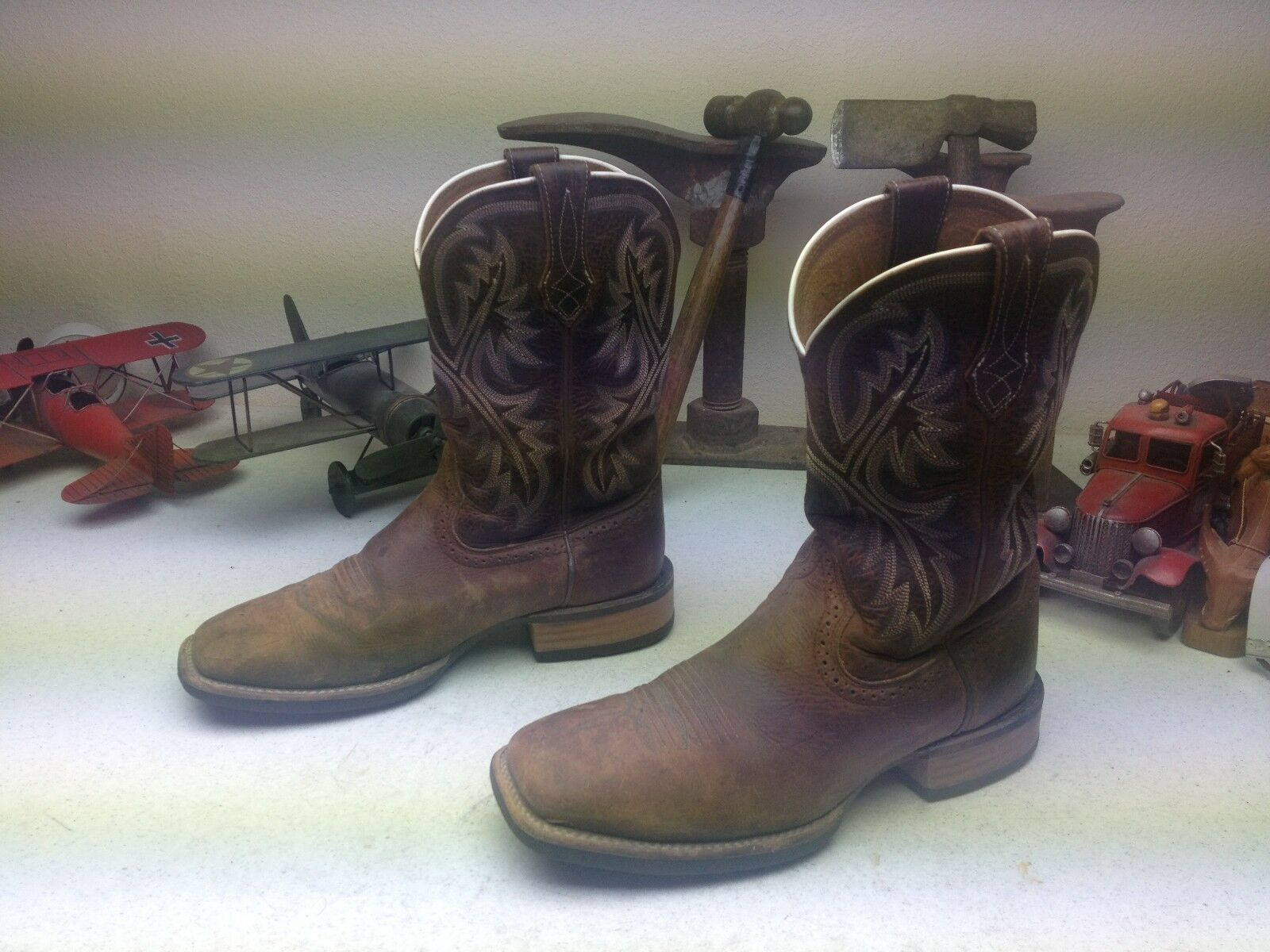 ARIAT.BROWN DISTRESSED CHORE SQUARE TOE ENGINEER PACKER CHORE DISTRESSED WESTERN BOSS BOOTS 8 D c4686d