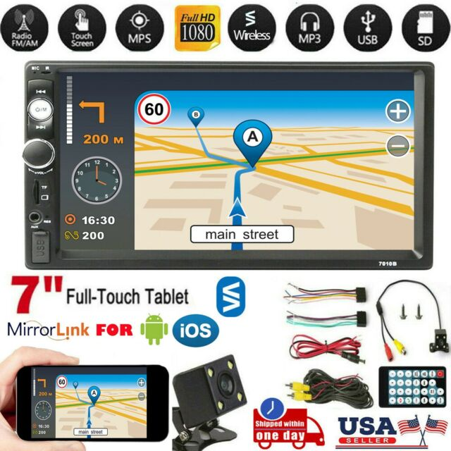 """7"""" Inch 2 DIN Car MP5 Player Stereo Radio Wireless Touch Screen w/ Rear Camera"""