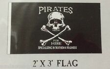 Pirates For Hire flag scuba dive equip novelty valentines day GIFT FUN 2x3 #656