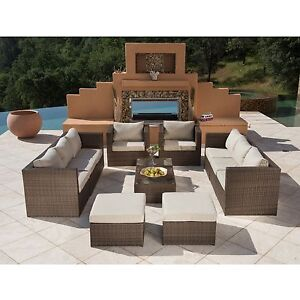 Supernova 12pc outdoor rattan wicker sofa sectional patio Supernova furniture