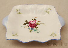 """Shelley Dainty Shape FLORAL Sweet Meat/ Pin Dish 5"""" x 4"""""""