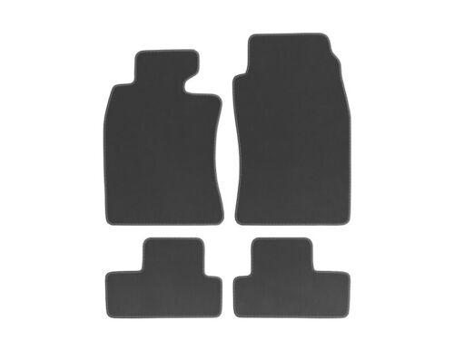 R53 Bj Velours Autoteppiche für Mini Cooper R50 01-06 Nubuk Harvard silber