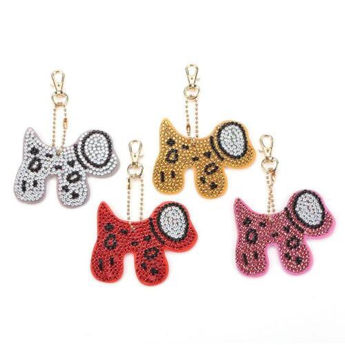 DIY Full Drill Diamond Painting Special-Shape Cute Christmas Keychain Kits Decor