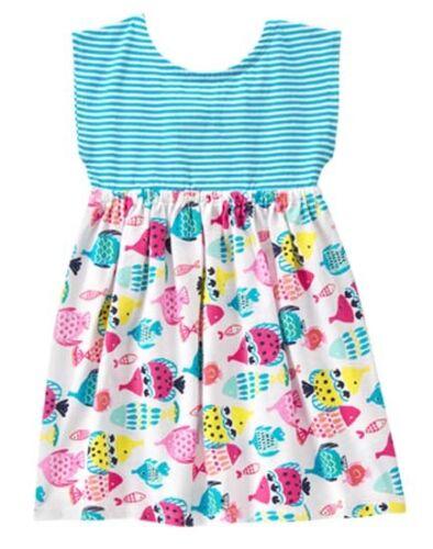 NWT Gymboree MIX N MATCH Sz 2T 3T 4T 5T Striped Fish Dress NEW