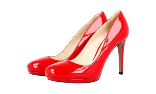 5 verniciata New Red Scarpe pelle in 7 40 Prada di Uk 1ip286 40 Shoes lusso qq1wf7