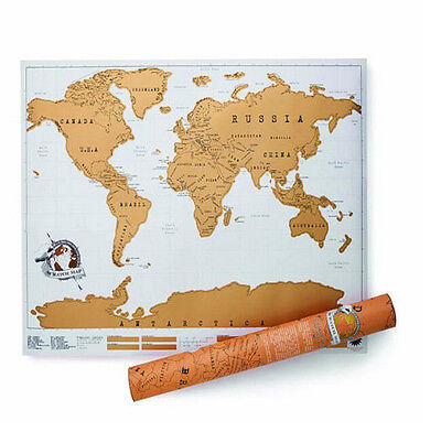 Luxury Journal Log Gift Travel Edition Scratch Off World Map Poster Durable