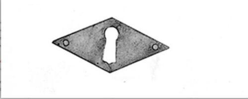 Beschlag Schlüsselloch Blende Messing brüniert mit Loch hochkant 47x100mm