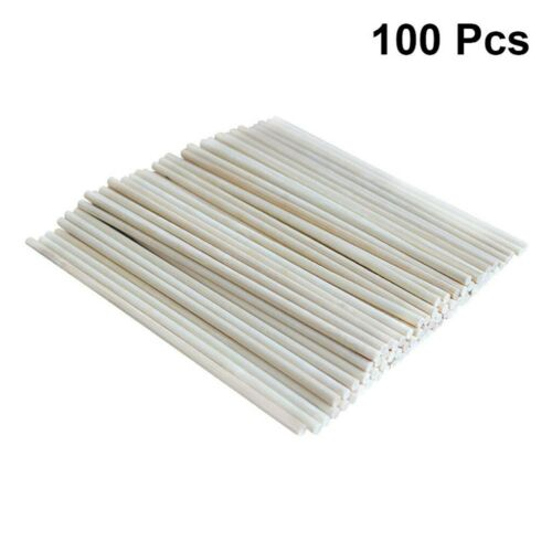 100pcs Dowel Rods Long DIY Dowel Rods Wood Craft Dowel Sticks for Kids Children