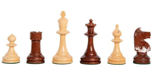 The W.T. Pinney Series  Chess Set - Pieces ONLY - 4.75  re - Natural & Anjan La  compra nuovo economico
