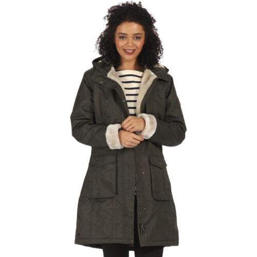 Regatta Damen Roanstar II Wasseridcht Isoliert Mantel Feige Schwarz oder Khaki