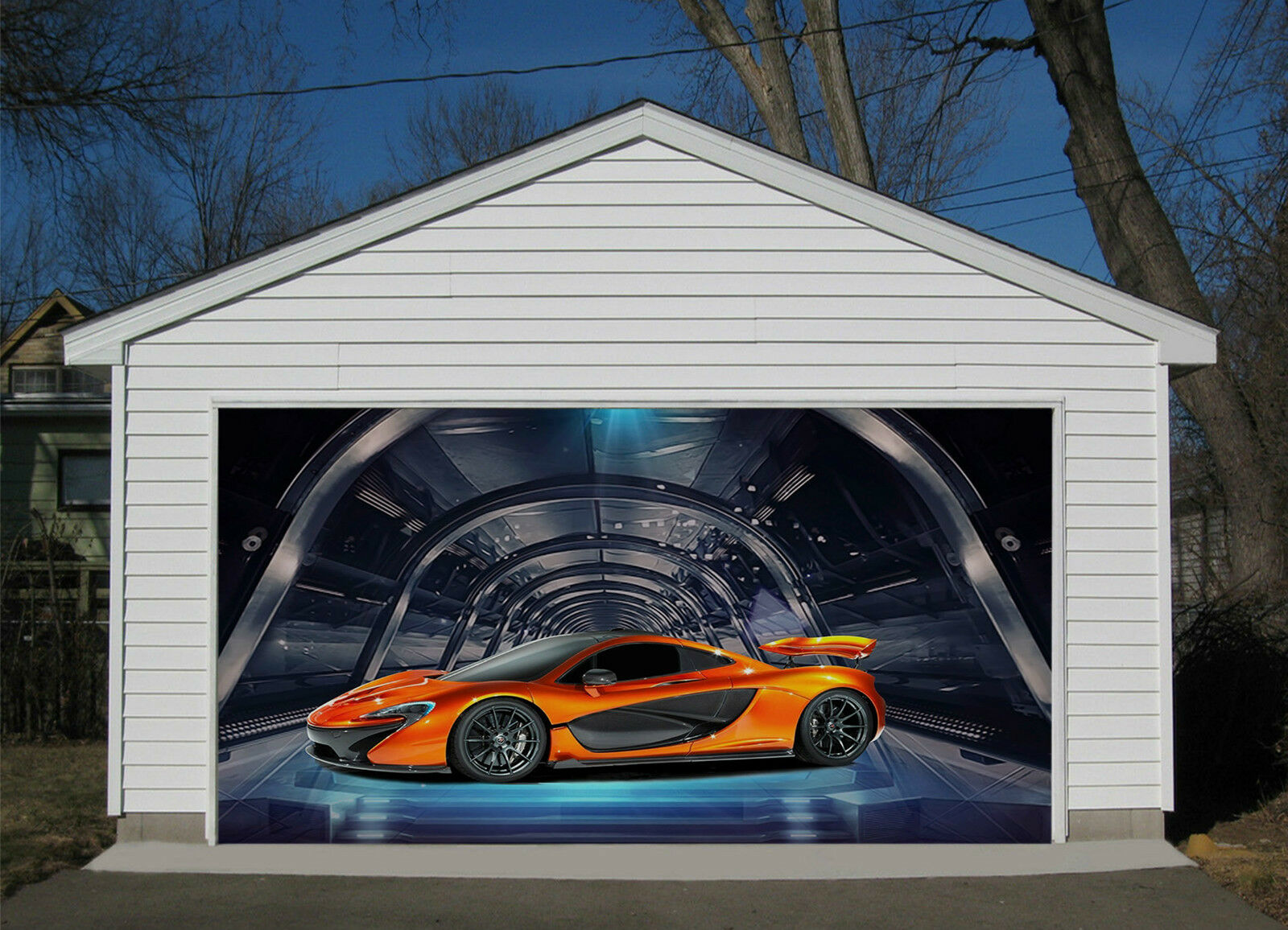 3D Auto Sportiva 4 Garage Porta Stampe Parete Decorazione Murale AJ WALLPAPER IT