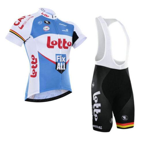 KJU256 Mens Team Racing Dh Cycling Short Sleeve Jersey Lycra bib Shorts Wear