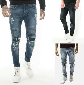 883 Police Mens Slim Fit Stretch Designer Vintage Classy Distress Denim Jeans