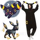 Pokemon Umbreon Onesie Kigurumi Pajamas Anime Cosplay Costume Unisex Adult