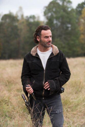 Pantaloni uomo ANDREW LINCOLN Walking Dead Rick Grimes scamosciata scontati LEATHER JACKET