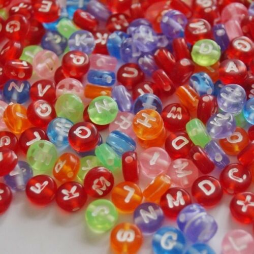 100 Alphabet Letters Alphabetical Craft Beads Various Assorted