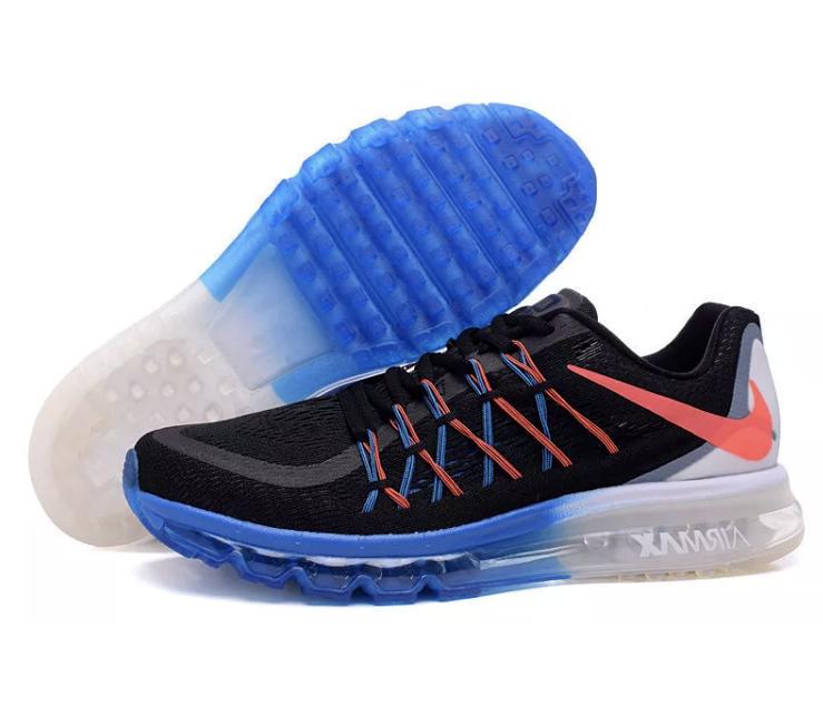 * Új * Nike Air Max 2015 férfi méret 11 futócipő fekete / meleg lava 698902-008