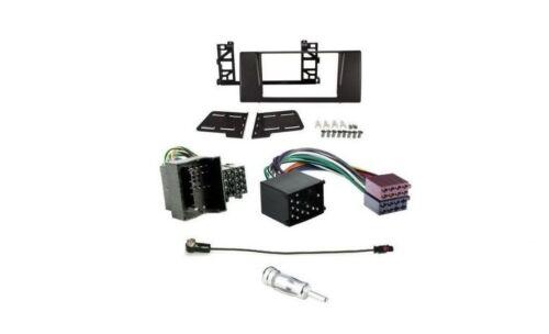 Radioblende 2DIN BMW 5 E39 1997 />2003 Set Einbaurahmen BMW ISO Adapter
