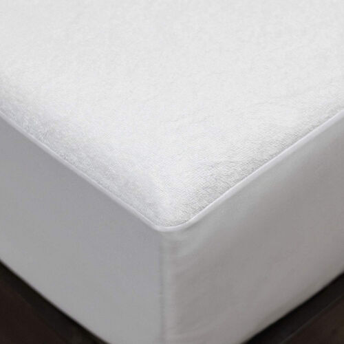 Luxury Matress Protector Cotton Terry Breathable Waterproof Mattress Bed Cover