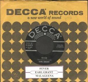 Grant-Earl-Fever-Vinyl-45-rpm-record-Free-Shipping