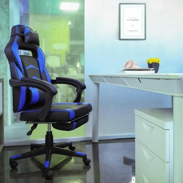 High Back Racing Bucket Seat Gaming Chair Black For Sale Online Ebay