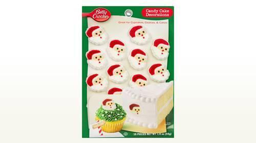 L@@K (3) Betty Crocker Christmas Candy Card Decoration Santa Face