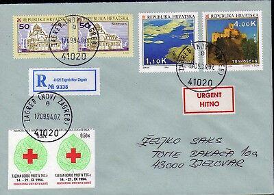 Waren Jeder Beschreibung Sind VerfüGbar Waagerechtes Paar Geschnitten 2439 Dynamisch Brief Kroatien Zz 38 Rotes Kreuz