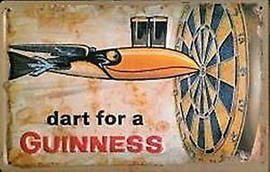 postcard  110mm x 80mm hi Guinness Wheelbarrow miniature metal sign