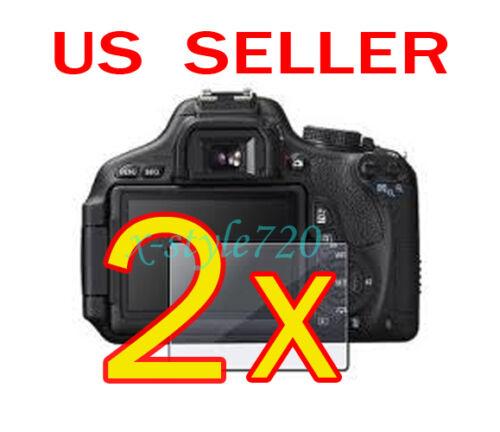 2x Canon EOS 600D Rebel T3i Cámara LCD Pantalla Protector Protector Protector De La Película