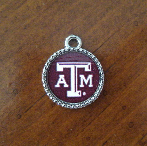 New Texas A Amp M University Aggies Pewter Charm Bead