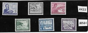 MNH  Hitler Culture fund complete Stamp set / 1944 Third Reich / WWII Germany