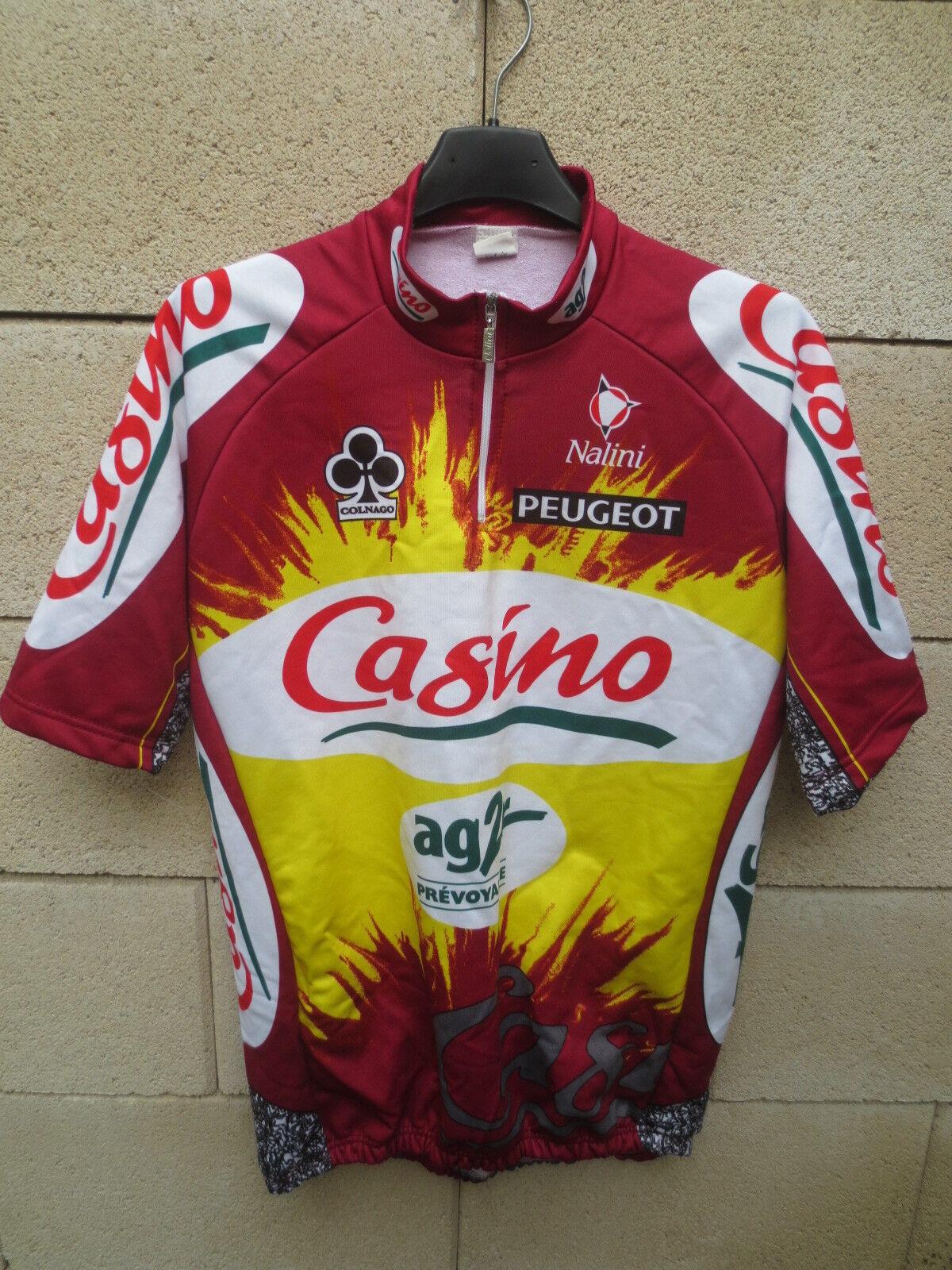 Maillot cycliste CASINO AG2R Tour de France 1998 COLNAGO COLNAGO COLNAGO maglia shirt trikot XL ca3178