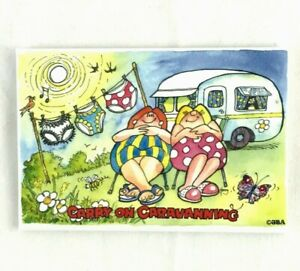 Carry on Caravanning Ball Game Caravan Comedy Magnet /& Free Caravan Postcard