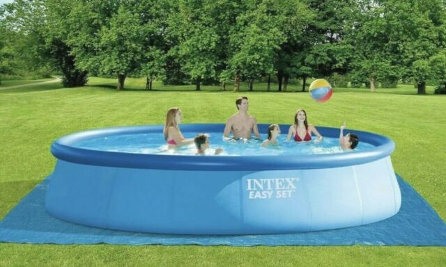 NEW INTEX 18ft x 48in Easy Set Pool WITH PUMP, LADDER, COVER, AND FILTER
