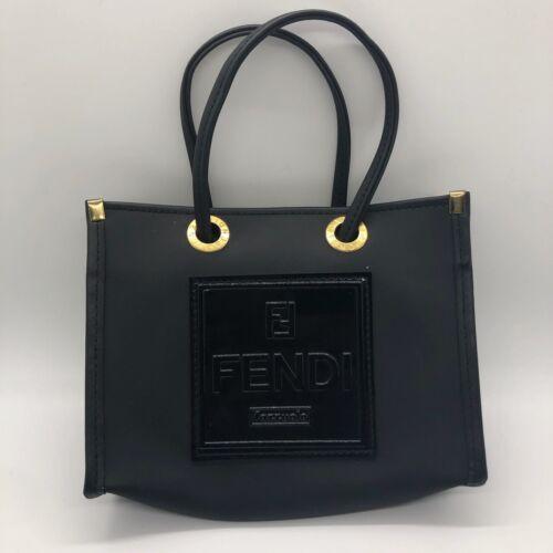 Vintage Fendi Fazzuolo Logos Mini Rubber Bag