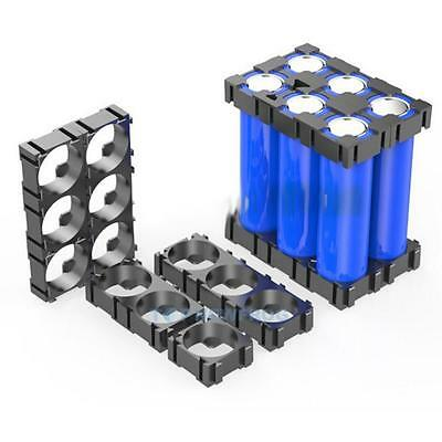 20Pcs 3x 18650 Battery Safety Spacer Radiating Shell Plastic Heat Holder Bracket