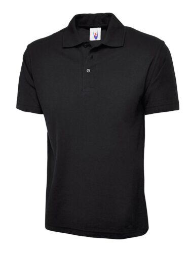 New Mens /& Womens Active Pique Polo Shirt Size XS 6XL Sport Work Leisure Wear