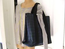 "Polo Ralph Lauren Navy/ Green Plaid Tartan Tote Shoulder Handbag - 14.5"" x 14.5"""