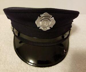 Details about Vintage N J  Somerset Community Vol  Fire Co  Captains Hat  (Pre-Owned) Rare!