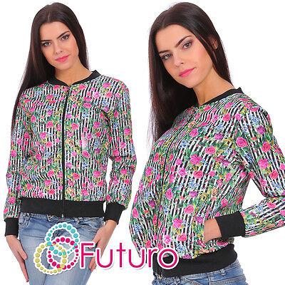 Womens Sweatshirt With Pockets Tracksuit Top Jacket Blazer Sizes 8-14 Fz69 Hell Und Durchscheinend Im Aussehen